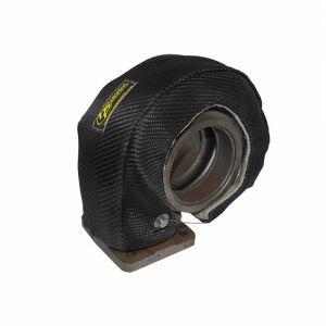 Black Carbon Fiber Turbo Heat Shield