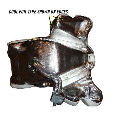 Motorcycle gas tank heat shield