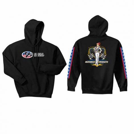 Patriotic hot rod hoody