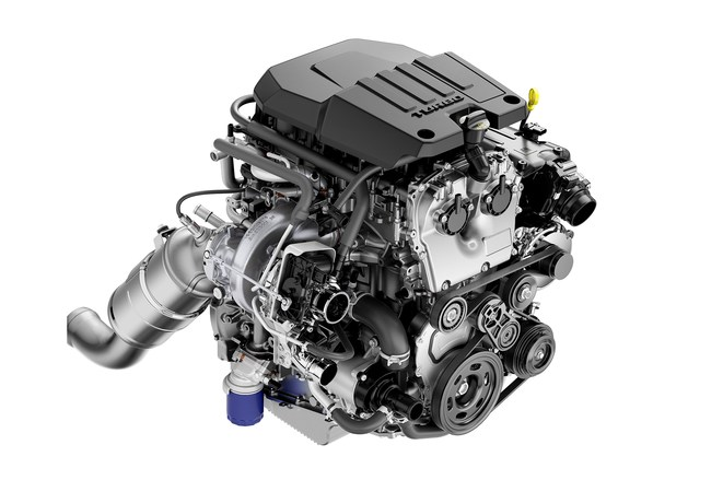 Above One Of The New Engine Options For The All New 2019 Chevrolet And Gmc Half Ton Full Size Trucks Is A 2 7 Liter Turbocharged Gasoline Four Cylinder